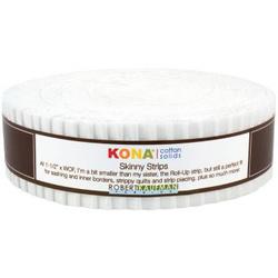 "Kona Solid 1.5"" Strip Roll in White"