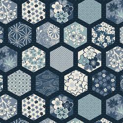 Hexagons in Blue