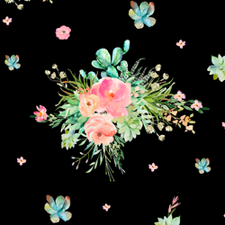 Western Bouquet in Black