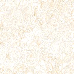 Paperie in Light Sunflower on White