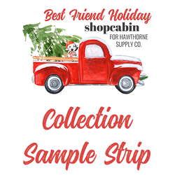 Best Friend Holiday Sample Strip