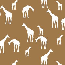Giraffe Silhouette in Ochre