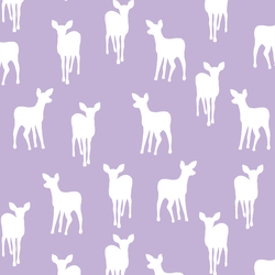 Fawn Silhouette in Lilac