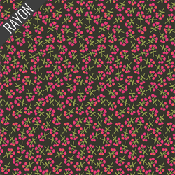 Sweet Floret Rayon in Cerise