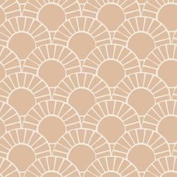 Large Mosaic Sun Tile in Appleblossom