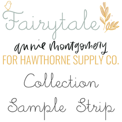 Fairytale Sample Strip