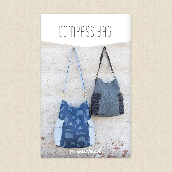 Compass Bag Sewing Pattern by Noodlehead at Hawthorne Supply Co