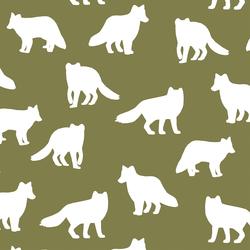 Fox Silhouette in Jungle