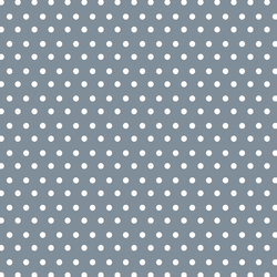Winter Dot in White on Winter Blue