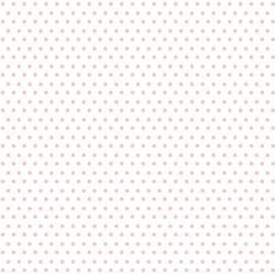 Winter Dot in Sweet Pink on White
