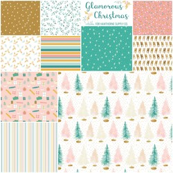 Glamorous Christmas Fat Quarter Bundle Little Scale