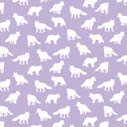 Little Fox Silhouette in Lilac