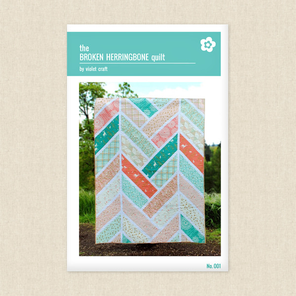 Broken Herringbone Quilt Sewing Pattern by Violet Craft at Hawthorne ...