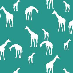 Giraffe Silhouette in Jade