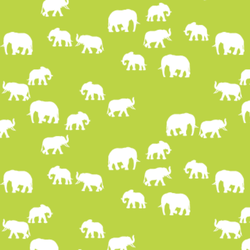 Elephant Silhouette in Lime