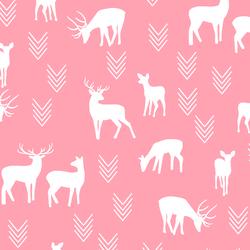 Deer Silhouette in Rose Pink