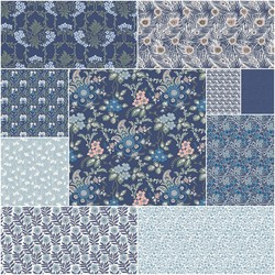The Hesketh House Collection Fat Quarter Bundle in Dusk
