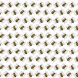 Busy Bees in White