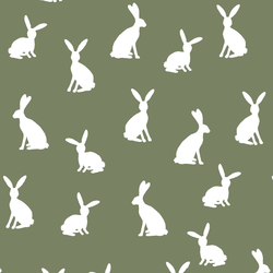 Cottontail Silhouette in Olive
