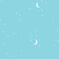 Moon and Stars in Pool