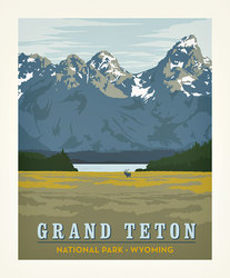 Poster Panel in Grand Teton