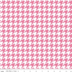 Houndstooth Knit in Hot Pink