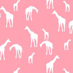Giraffe Silhouette in Rose Pink