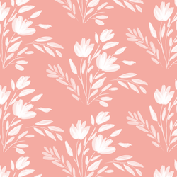 Large Etched Floral in Rose Pink