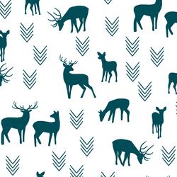 Deer Silhouette in Juniper in White