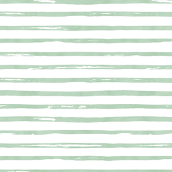 Watercolor Stripes in Spearmint
