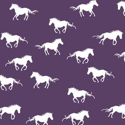 Horse Silhouette in Aubergine