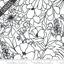 Modern Florals Canvas in Paper