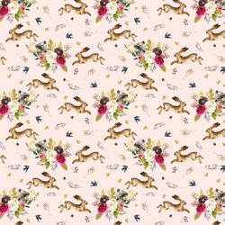Small Autumn Bunnies in Pale Peach