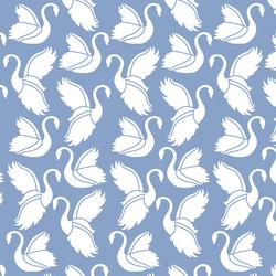 Swan Silhouette in Cornflower