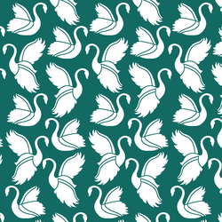 Swan Silhouette in Emerald