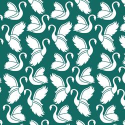 Swan Silhouette in Emerald