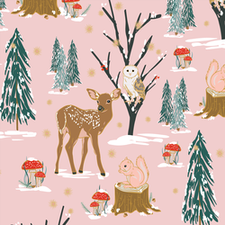 A Winter Woodland in Fresh Pink
