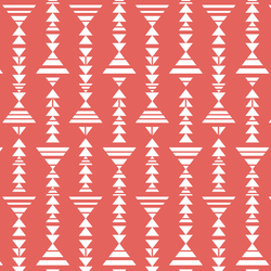 Little Tribal Stripe in Salmon