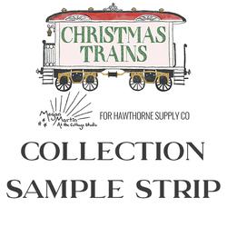 Christmas Trains Sample Strip