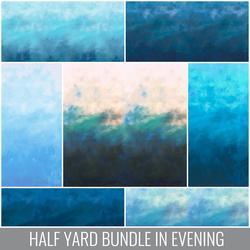 Sky Half Yard Bundle in Evening