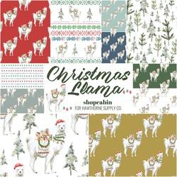 Christmas Llama Fat Quarter Bundle
