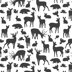 Forest Friends in Onyx on White