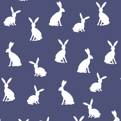 Cottontail Silhouette in Indigo