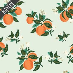 Citrus Blossom Rayon in Orange