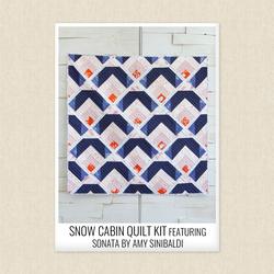 Snow Cabin Sonata Quilt Kit