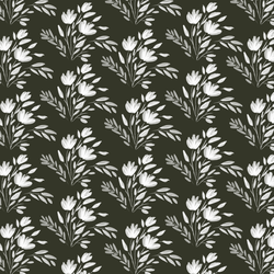 Etched Floral in Deep Ivy