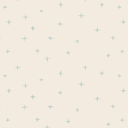 Swiss Crosses in Light Misty Blue on Egret