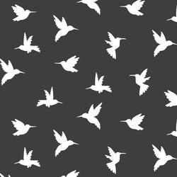 Hummingbird Silhouette in Onyx