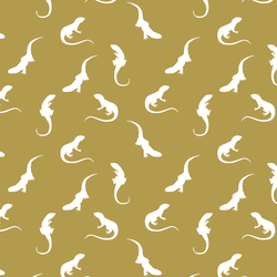 Iguana Silhouette in Gold