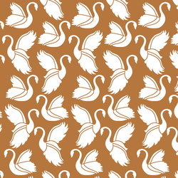 Swan Silhouette in Ginger